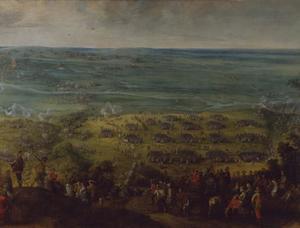 Het oversteken van de rivier de Somme nabij Bray en Corbie door de verenigde keizerlijke, Beierse en Lotharingse  troepen onder Johann von Werth en Ottavio Piccolomini, daarbij onder vuur liggend van de Fransen onder de Comte Soissons, 1 augustus 1636