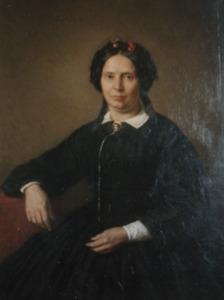Portret van Lydia Sadee ( -1879)