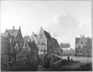 Gezicht op de Kolkstraat te Dordrecht