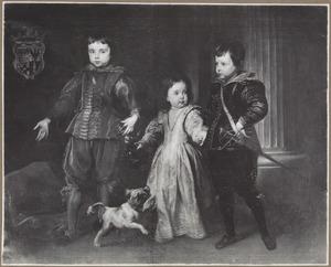 Portret van Luca (?-?), Giacomo  (?-?) en Violante Spinola  (?-?), kinderen van Agostino Spinola, Marchese di Lerma (?-1636) en Vittoria Doria (1600-?)
