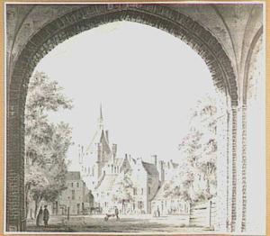 Het Valkhof en de Burchtpoort te Nijmegen