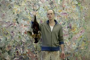 Marc Mulders voor een van zijn werken
