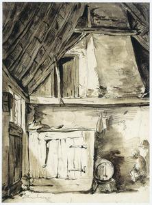 Interieur van een boerenschuur