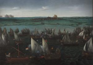 Gevecht tussen Hollandse en Spaanse schepen op het Haarlemmermeer, op 26 mei 1573