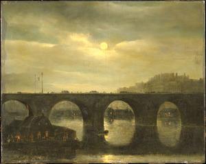 Parijs, gezicht op een brug over de Seine