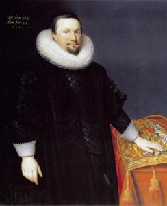 Portret van Thomas, 1st Baron Coventry, Lord Keeper of the Great Seal (1578-1640) op 49-jarige leeftijd