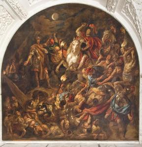 De nachtelijke overval van de Batavieren op een Romeins legerkamp