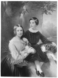 Portret van Cornelia Wilhelmina Philippina van Tuyll van Serooskerken (1833-1857) en Jan Maximiliaan van Tuyll van Serooskerken (1838-1904)