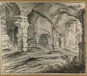 Rome, de ruïnes van het Colosseum (?)