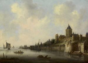Gezicht op het Valkhof te Nijmegen