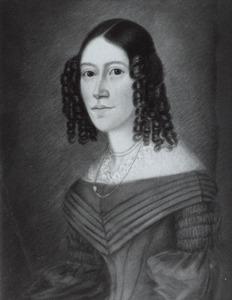 Portret van Rhynvisa Mathilda Elisabeth Catharina Feith (1821-1887)