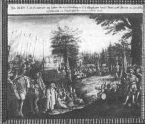 Het legerkamp van Neurenberg voor de Slag om Pillenreuth