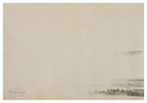 Gezicht op Wageningen (voortzetting van het landschap aan de voorzijde van het blad)