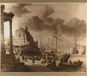 Schepen in een mediterrane haven