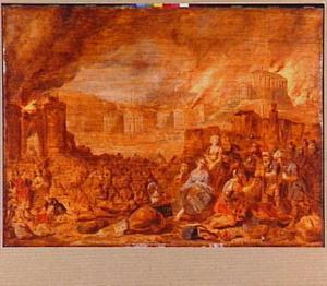 De val van Jerusalem; Nebuzaradan laat Jeremia op bevel van Nebukadressar  na de verwoesting van Jeruzalem vrij onder zijn eigen volk (Jeremia 39:13-14)