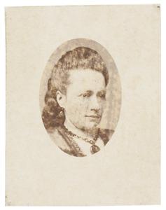 Portret van Cornelie Justine Wibbine Conrad (1836-1887)