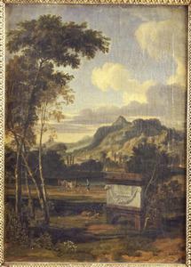 Zuidelijk landschap met graftombe