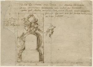 Ontwerp voor de titelpagina van Epigrammata, C. Malapert, Poemata, Antwerpen 1634