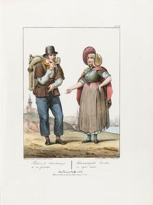 Een visser en zijn vrouw uit Scheveningen