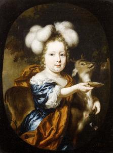 Portret van een onbekend meisje met een hertebokje