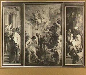 Drieluik met de marteldood van de Heilige Stephanus (middenpaneel), geflankeerd door het dispuut van Stefanus met de joden (links) en de graflegging van de heilige (rechts)
