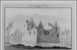 Rechter- en achterzijde van Kostverloren (ook wel Amstelhof of Brillenburg) bij Amsterdam