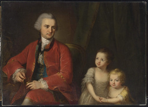 Portret van John Apthorp (1730-1772) uit Boston en zijn dochters