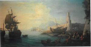 Zeehaven met toren