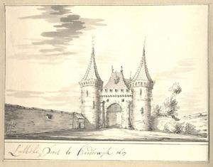 Harderwijk, de Luttekepoort anno 1607
