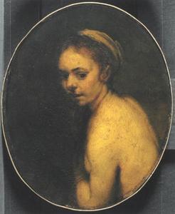 Halffiguur van een vrouw