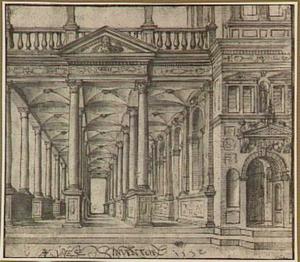 Paleis met galerij in renaissance-stijl