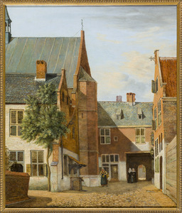 Binnenplaats van het Begijnhof in Breda