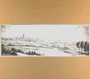 Arnhem, gezien vanaf een heuvel bij Mariëndaal