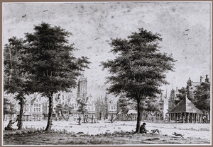 Noordoosthoek van het Vredenburg te Utrecht