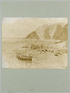 Gezicht op het eiland Wight