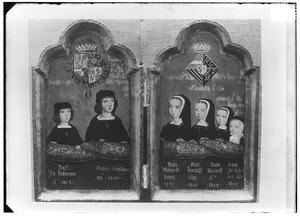 Tweeluik met de portretten van de kinderen van Philips 'de Schone' van Habsburg en Johanna 'de Waanzinnige' van Aragon en Castilië
