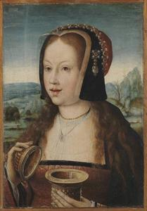 Portret van Margaretha van Oostenrijk (1480-1530), als Maria Magdalena