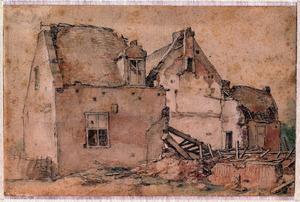 Groep vervallen huizen