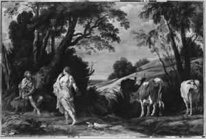 Heuvellandschap met Mercurius,  Argus en Io