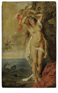 Andromeda vastgekluisterd aan de rots