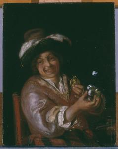 Zelfportret als een vrolijke drinker