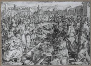 De fundering van de tempel in Jeruzalem