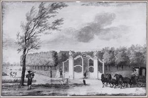 Toegangshek tot het landhuis Haaswijk te Dordrecht