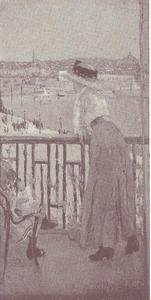 Op het balkon