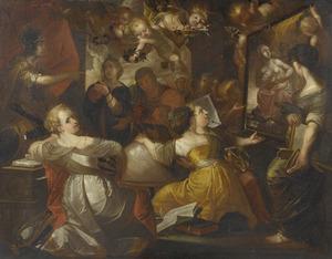 Minerva al beschermster van de kunsten