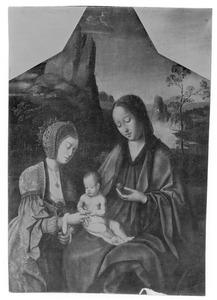 Maria met kind en de H. Catharina