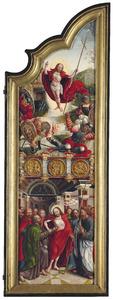 De opstanding (boven); De ongelovige Thomas (onder)