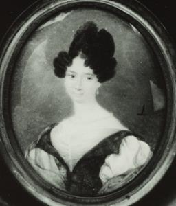 Portret van een vrouw,  waarschijnlijk Magdalena Clasina Fock (1811-1834)