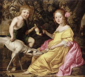Portret van een jongen en een meisje