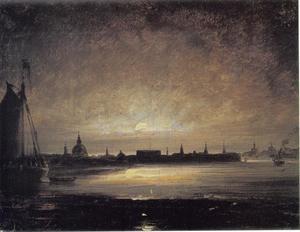 Stockholm bij maanlicht